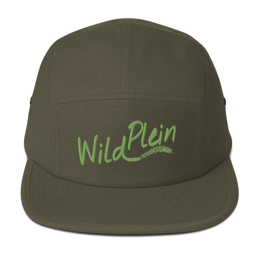 Wild Plein Five Panel Cap - (Olive & Lime) - Wild Plein