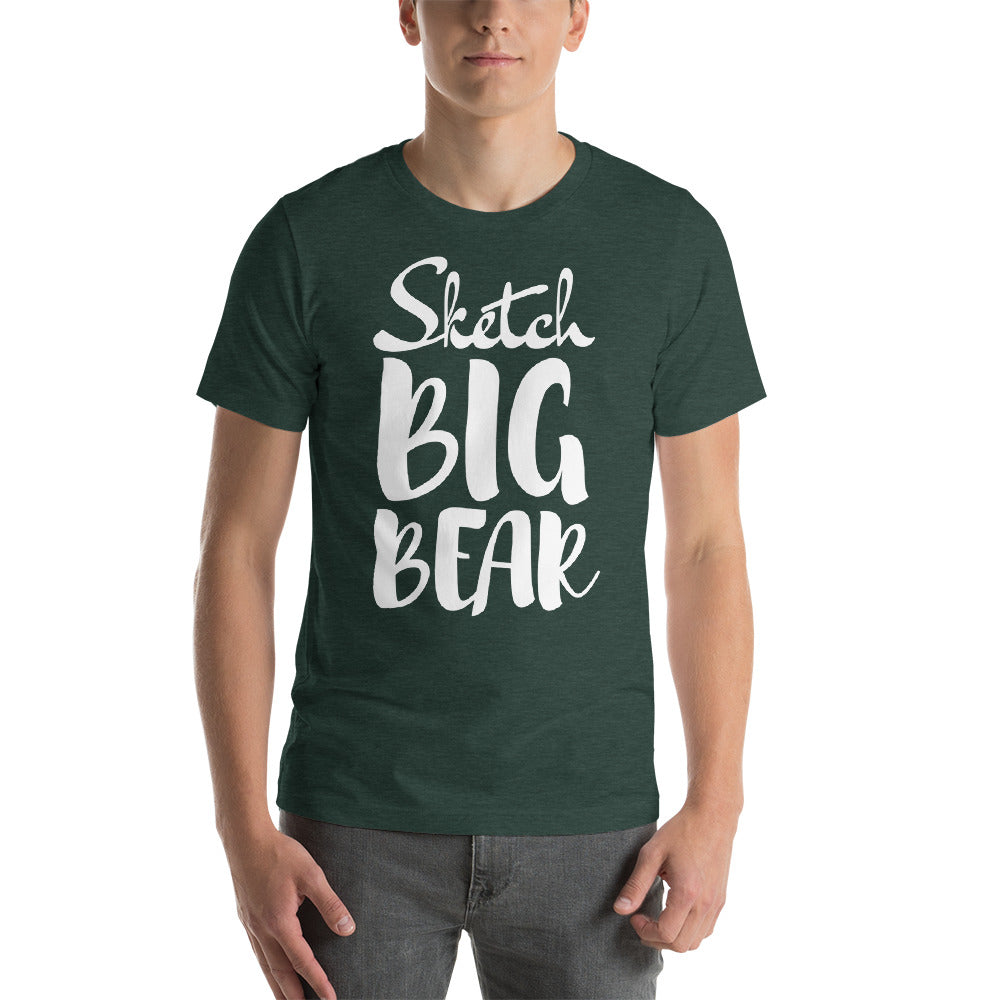 Sketch Big Bear Short-Sleeve Unisex T-Shirt (Male Model) - Wild Plein