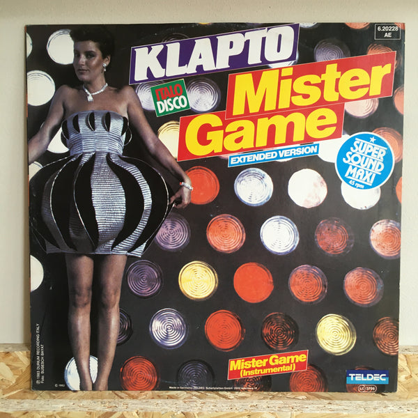 Klapto ‎– Mister Game (Extended Version)