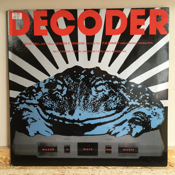 Various ‎– Decoder - The Soundtrack
