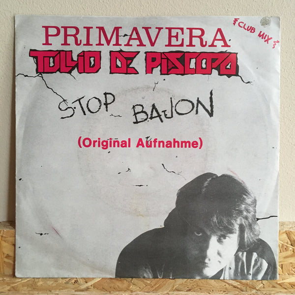 "Tullio De Piscopo ‎– Stop Bajon 7"" *German Press"
