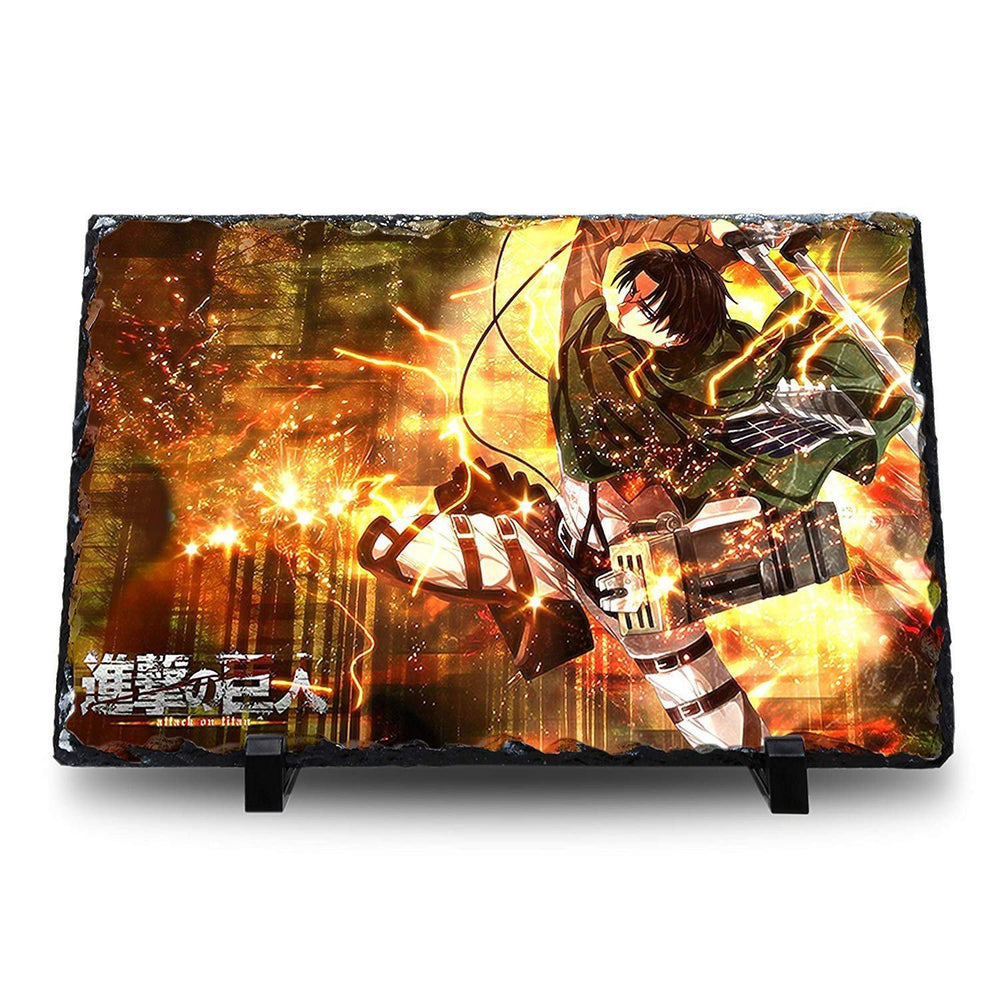Attack on Titan - Levi Natural Rock Slate with Stand - Anime Senpai