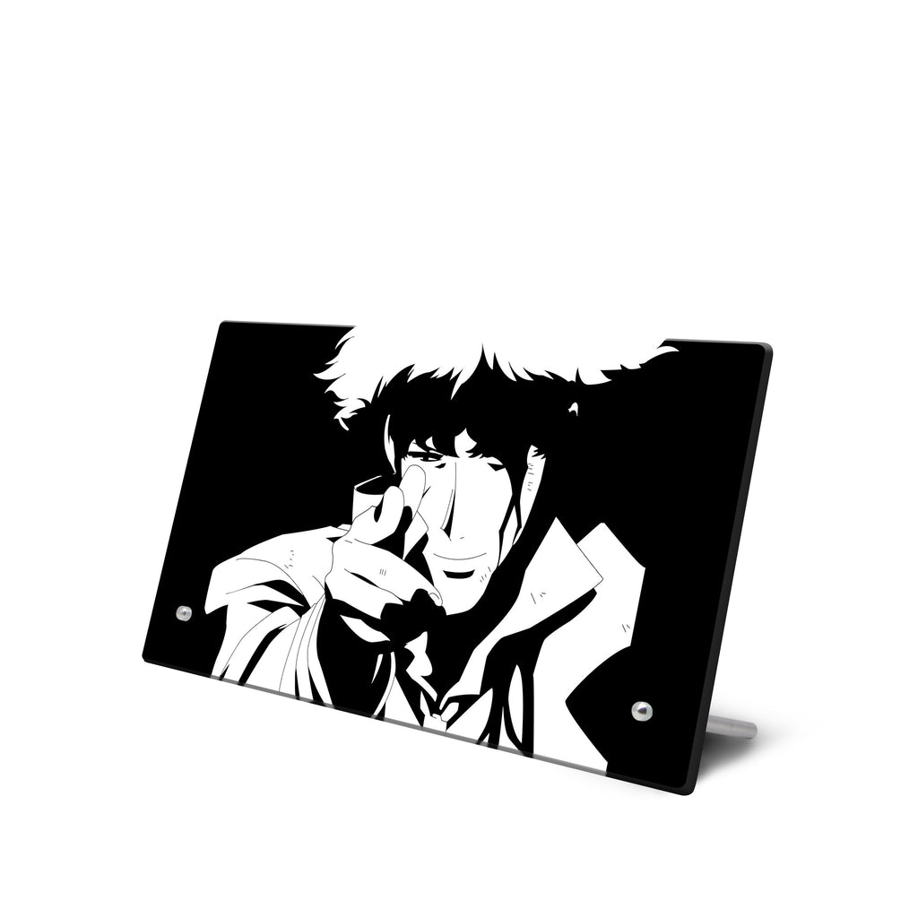 Cowboy Bebop – Spike Spiegel Glass Frame with Stand - Anime Senpai