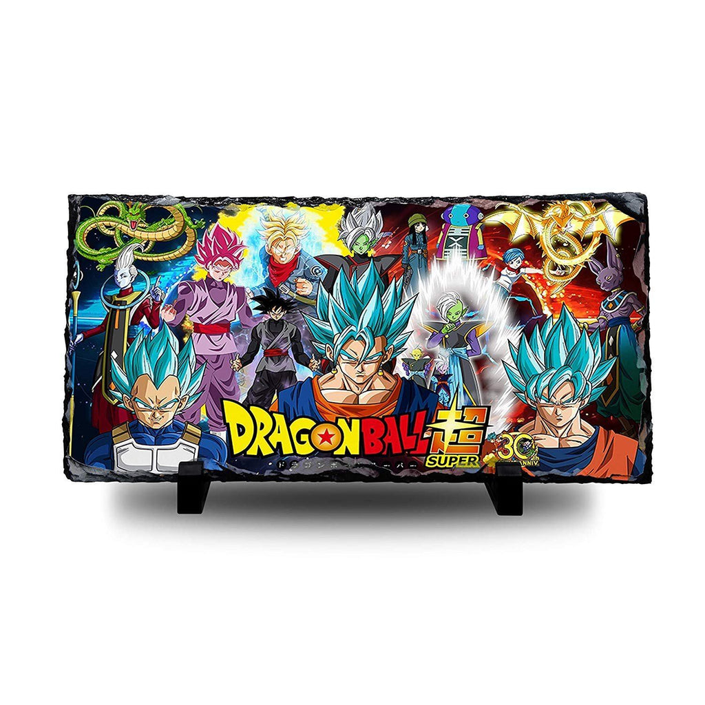 Dragon Ball Super - 30th Anniversary Natural Rock Slate with Stand - Anime Senpai