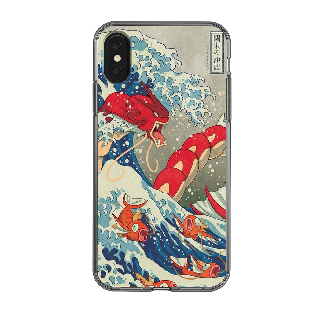 Pokemon - Beyond The Great Wave Red Gyarados Phone Case