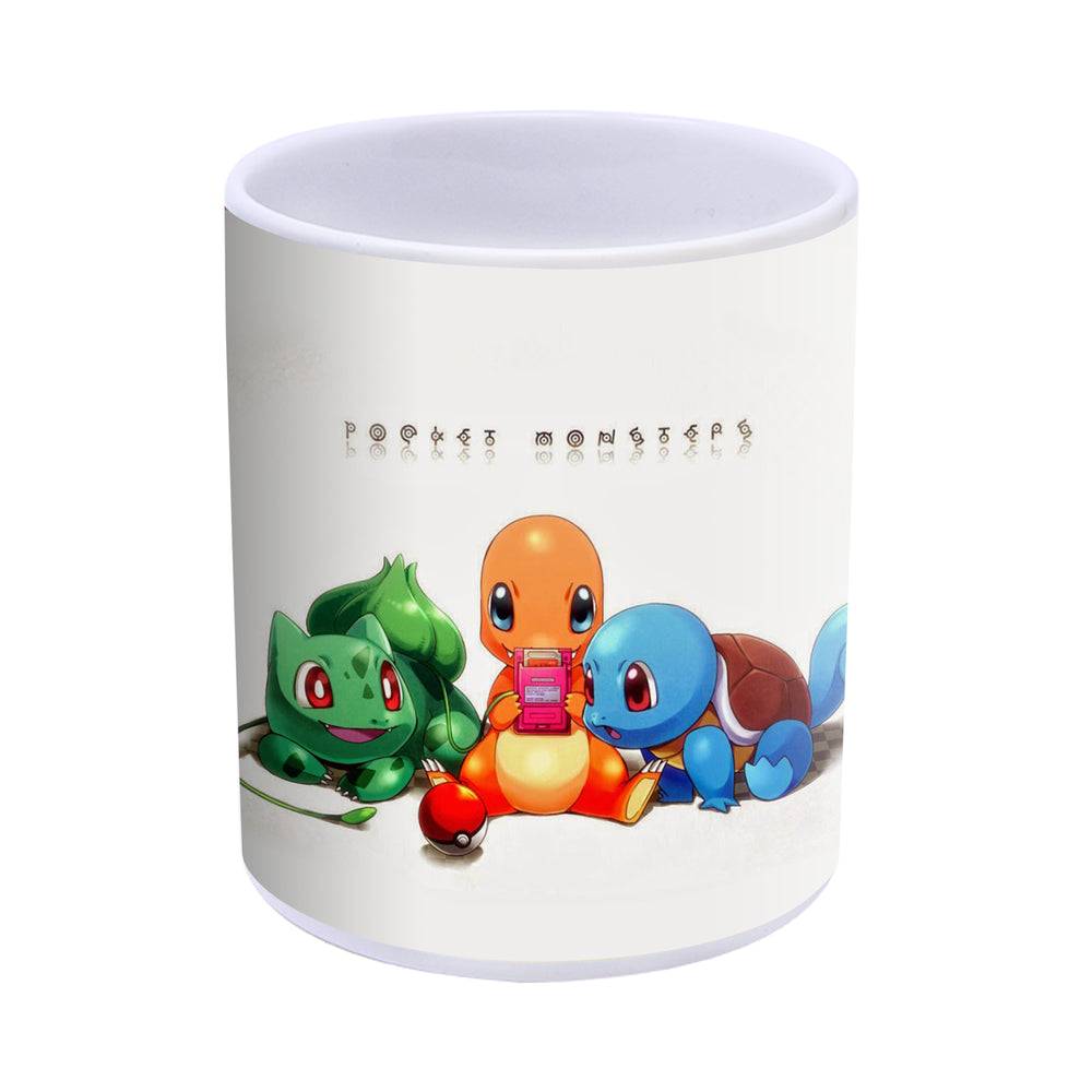 Pokemon - Bulbasaur Charmander and Squirtle Ceramic Handmade Mug