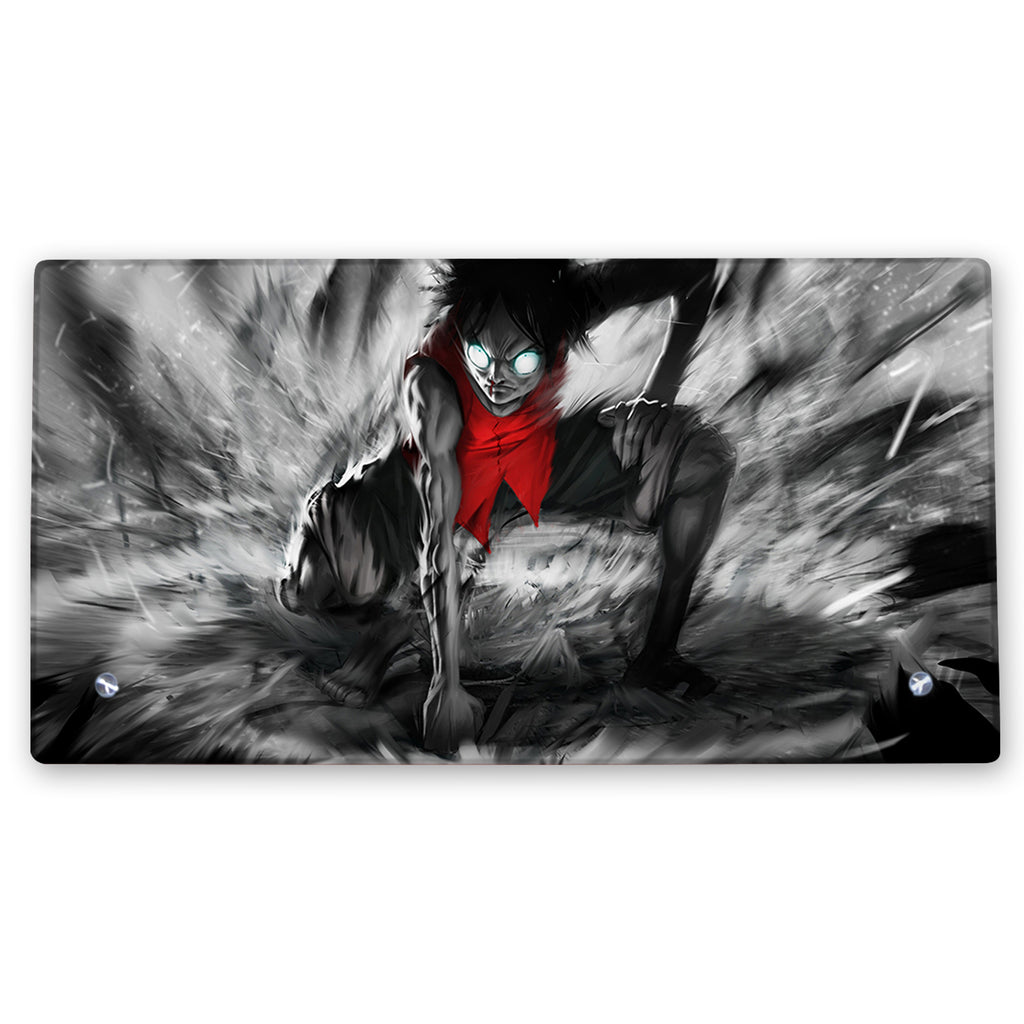 One Piece – Monkey D. Luffy Art Glass Frame with Stand - Anime Senpai