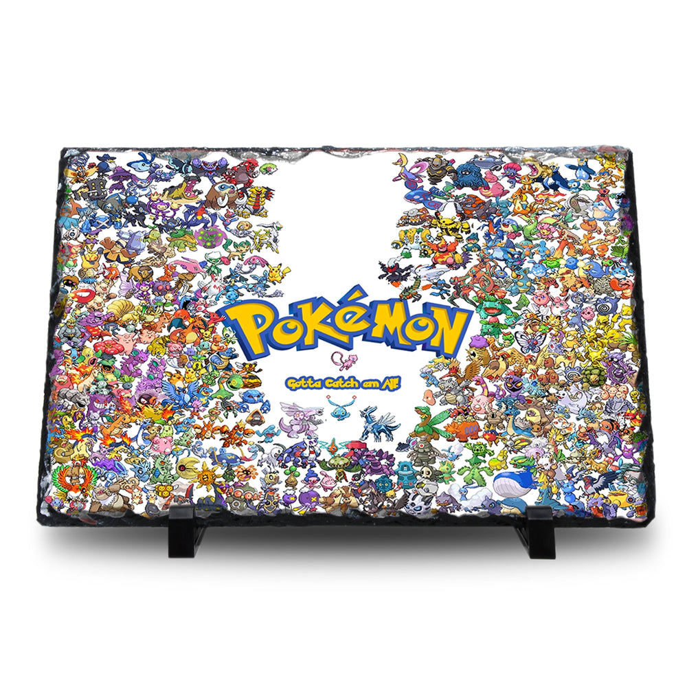 Pokemon - Natural Rock Slate with Stand - Anime Senpai