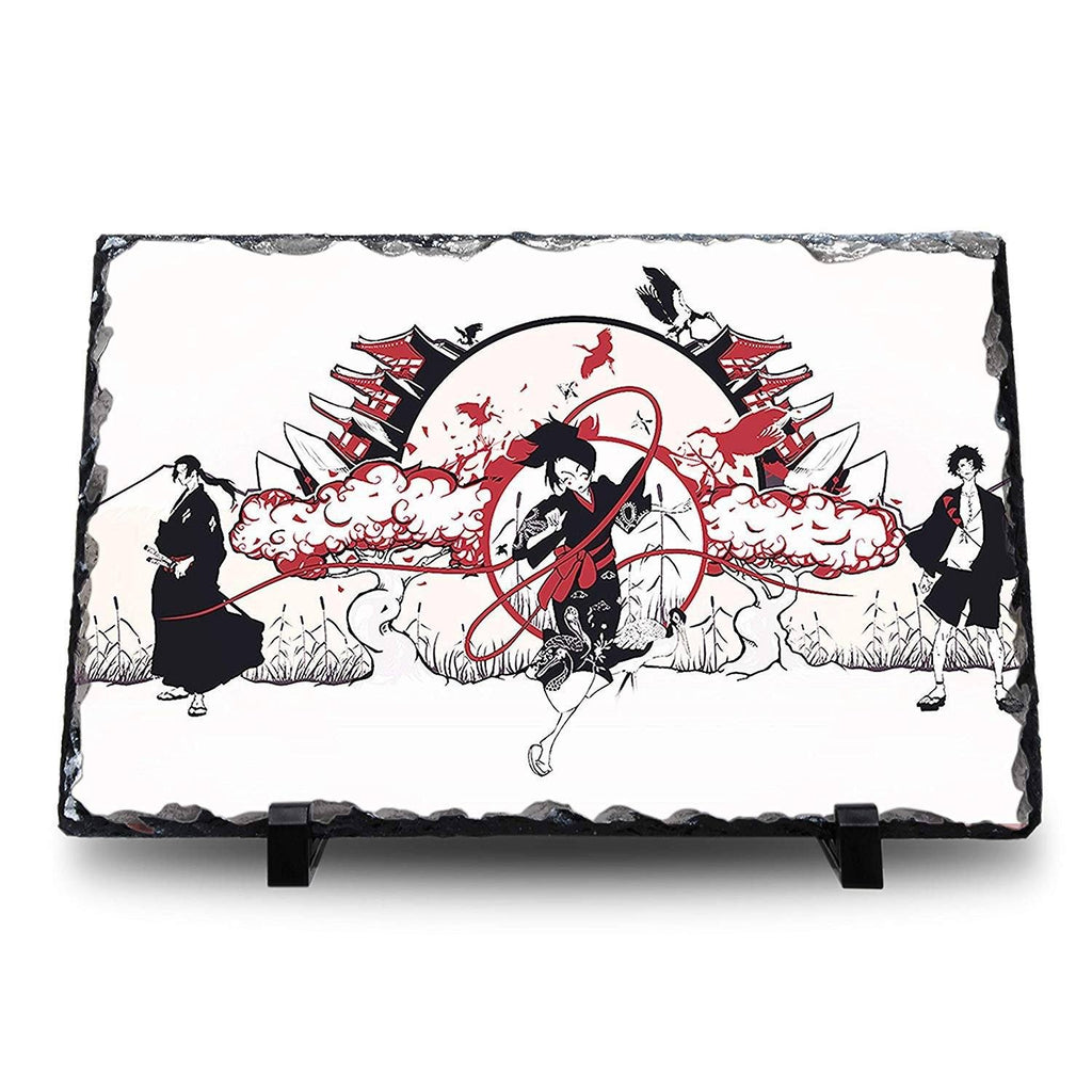 Samurai Champloo - Mugen Jin Fuu Natural Rock Slate with Stand - Anime Senpai