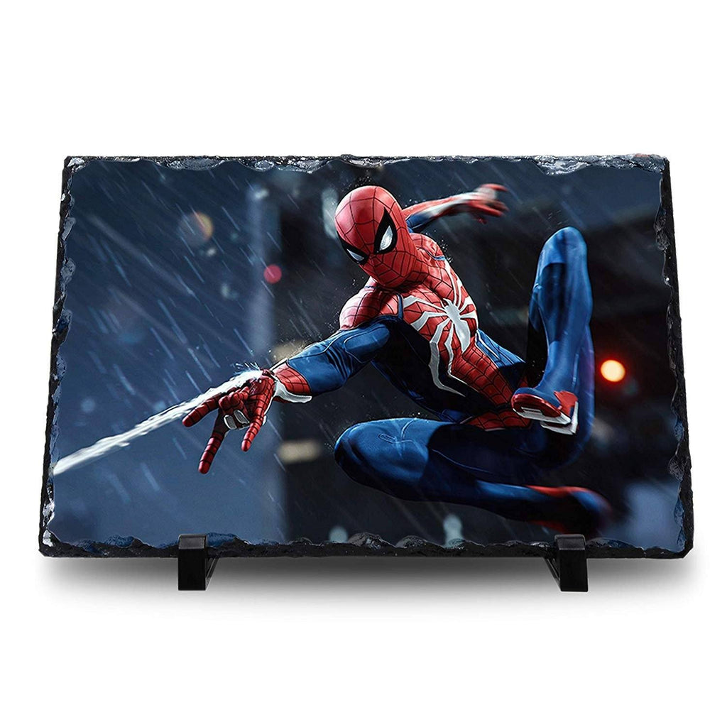 Spider Man - Natural Rock Slate with Stand - Anime Senpai