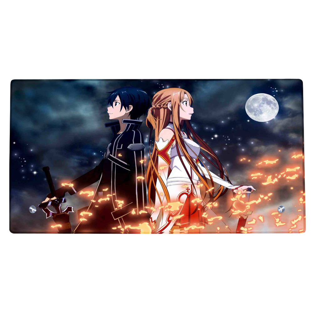 Sword Art Online – Asuna & Kirito Glass Frame with Stand - Anime Senpai