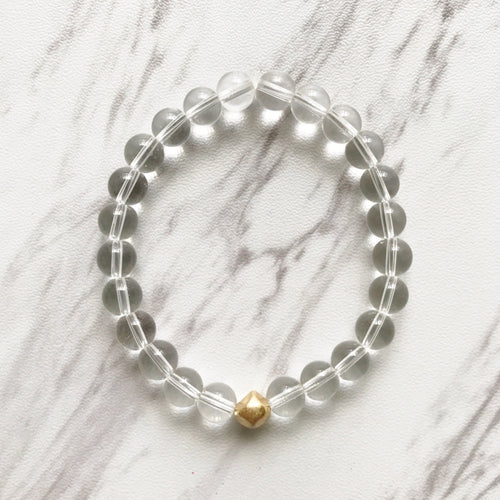 Clear and gold bracelet