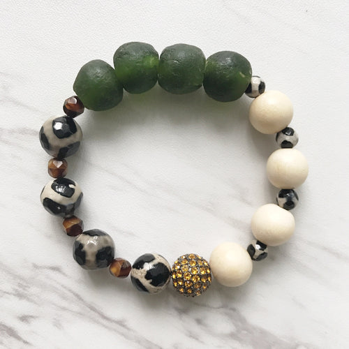 Akasha Bracelet (hunter green)