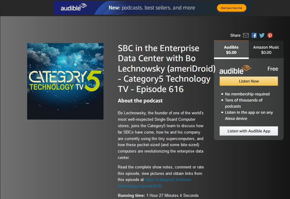 News: ameriDroid Founder Interview Now Available on Audible