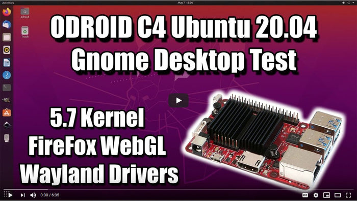 Review: ODROID-C4 Ubuntu 20.04 with Wayland by ETA Prime