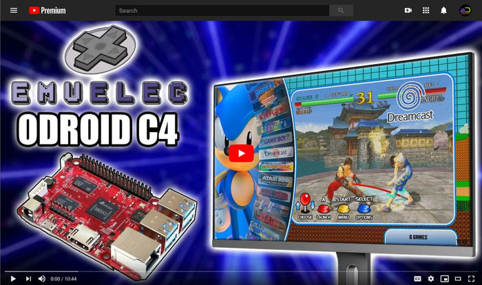 Watch: ODROID-C4 EmuELEC Performance Tests by ETA Prime
