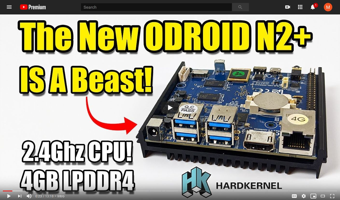 Watch: ODROID-N2+ Performance Tests by ETA Prime