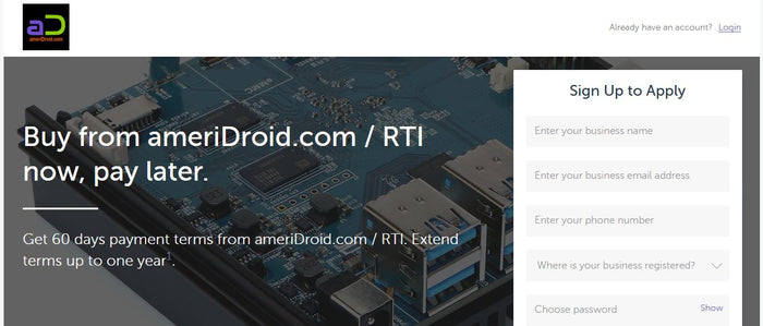 News: NET 60 Terms Up To $100K Now Available for ameriDroid Customers