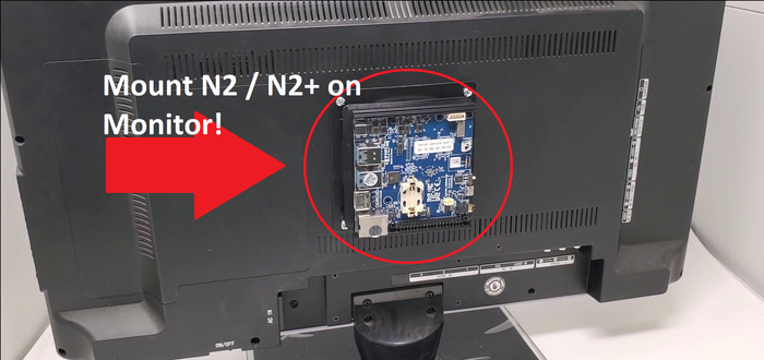 How-To: Mount ODROID-N2 / N2+ on Monitor