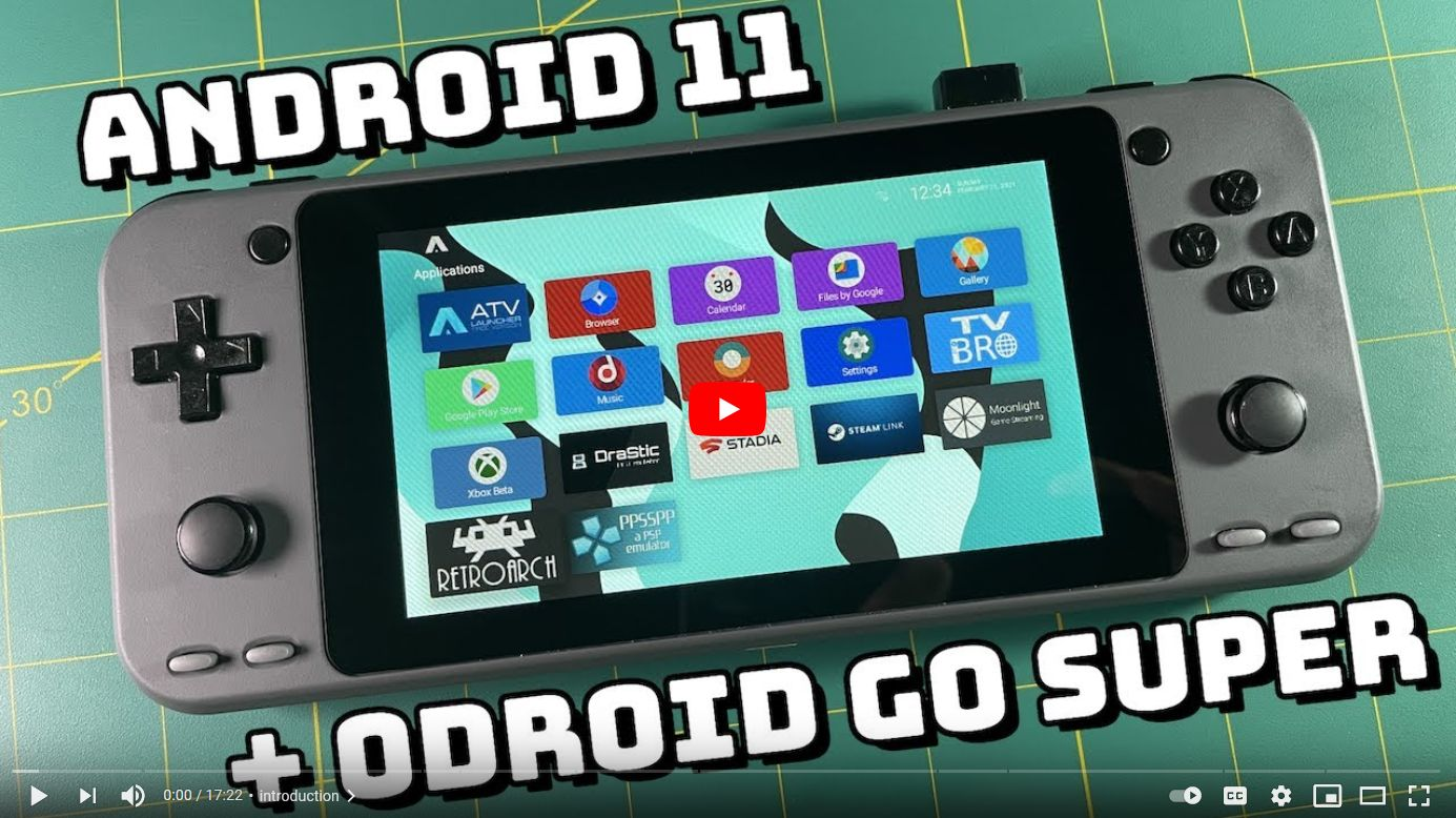 Review: Android 11 on ODROID-Go Super