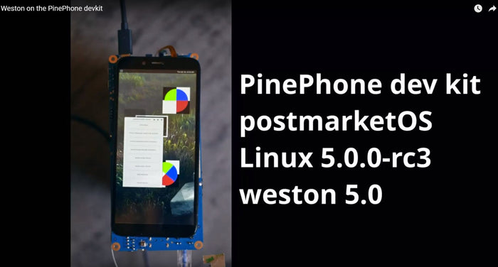 Watch: PinePhone Running postmarketOS with Weston