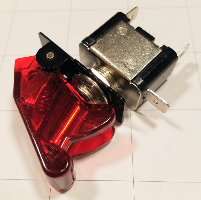 Toggle Switch - Maintained 12V/20A Red LED with Cover