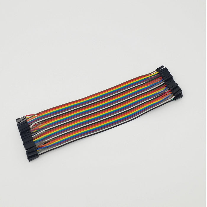 Female-Female Jumper Wires - 40 pcs x 8in.