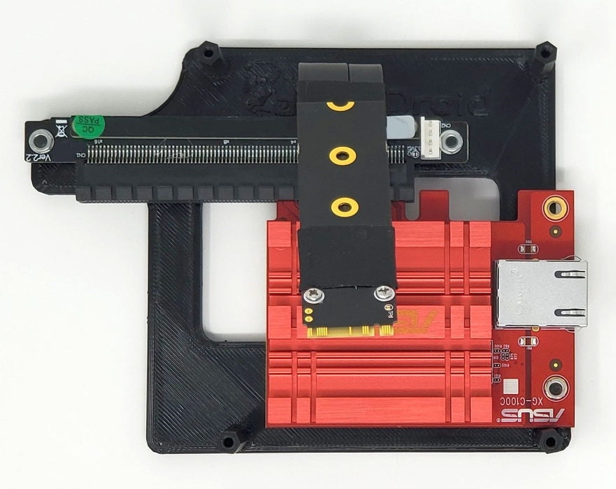 ODROID-H2 Mounting Plate (Supports PCIe Cards and SATA Drives)