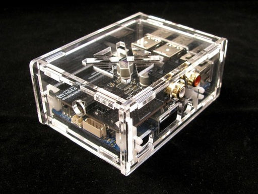 ODROID-C1+/C2 Case Compatible with HiFi Shield - Clear