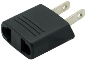 EU plug to US outlet adapter