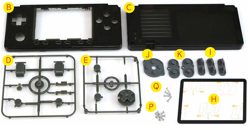Case and Buttons kit for ODROID-GO Advance Black Edition