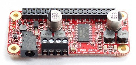 JustBoom Amp and DAC Zero pHAT for Raspberry Pi Zero