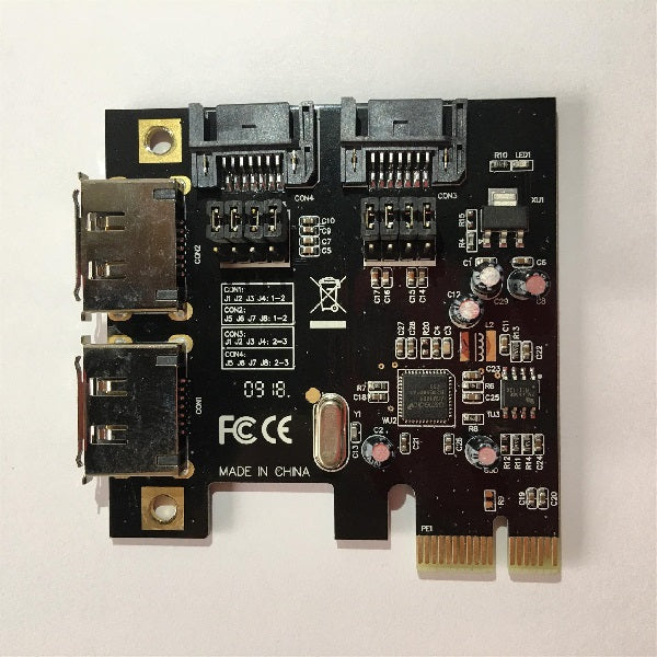 ROCKPro64 PCI-E to Dual SATA-II Interface Card