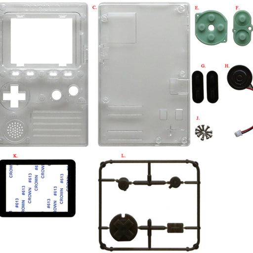 ODROID-GO Case-Buttons-Speaker Kit