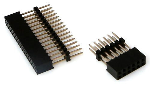 30-pin and 12-pin Dual-Stacking Header Sockets