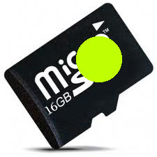 16GB MicroSD UHS-1 C0/C1/C1-Plus Android (Chartreuse Dot)