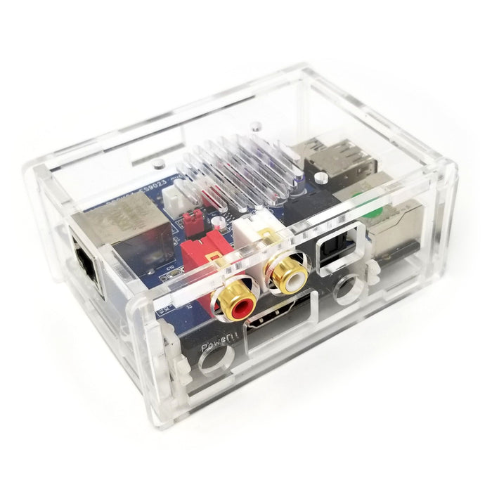 Acrylic Case for Rock64 with DAC - Clear