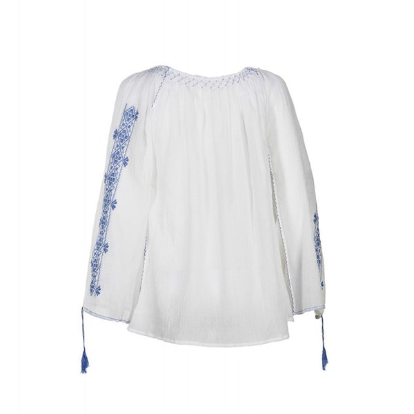 Long sleeved traditional embroidered blouse