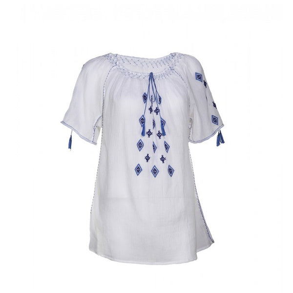 Blouse Roumaine Traditional Handmde Embroidery