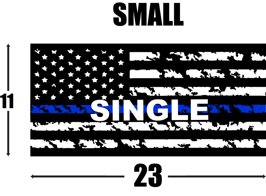 American Flag Decal (Single) - Quarter Window - (11