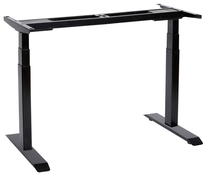 UNICOO - Electric Stand Up Desk Frame with Dual Motor, 3 Stage Up Lifting Legs, Rise UP Electric Adjustable Height and Width Standing Desk Frame with 4 Memory Keypad (Frame - Black)