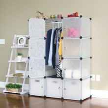 Unicoo - Multi Use DIY 12 Cube Organizer, Bookcase, Storage Cabinet, Wardrobe Closet (Deeper Cube, Semi-Transparent)
