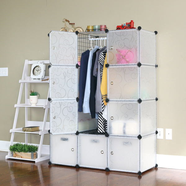 Unicoo - Multi Use DIY 12 Cube Organizer (Semi-Transparent)