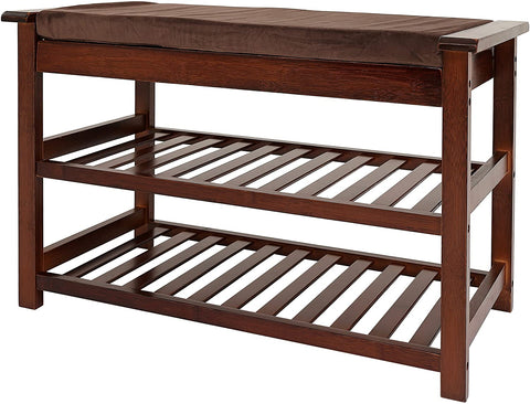 UNICOO - Bamboo Shoe Bench Rack (Brown)