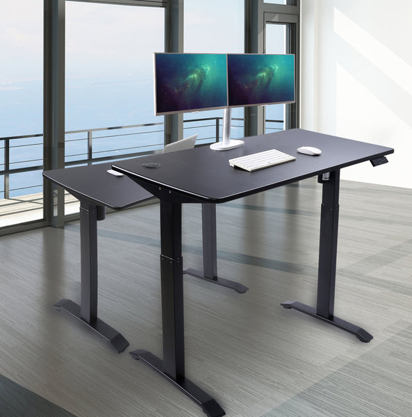 UNICOO - Electric Standing Desk (Black Top/Black Legs)