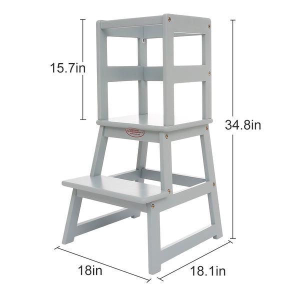 UNICOO - Kids Learning Stool (Grey)