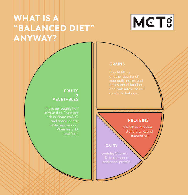 Infographic showing the food groups