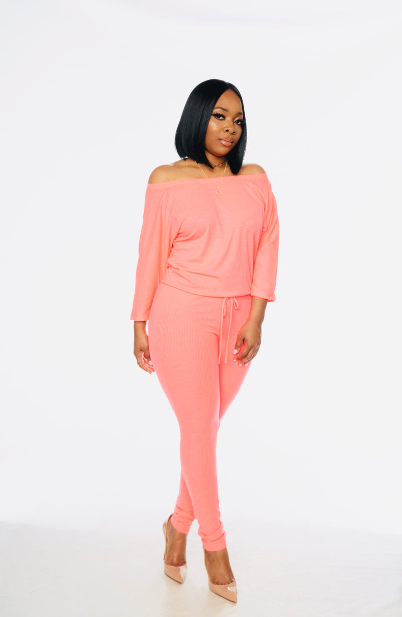 Coral Bright Jumpsuit