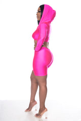 Biker Short Set (Fuchsia)