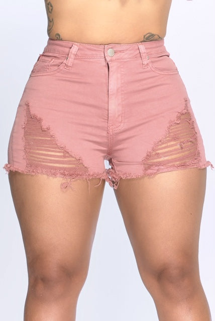 Rosey Distress Shorts